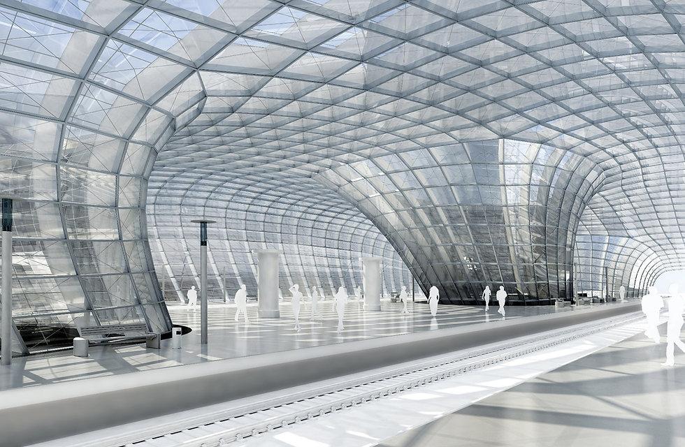 Architectural Geometry-Benjamin Schneider - Railway station