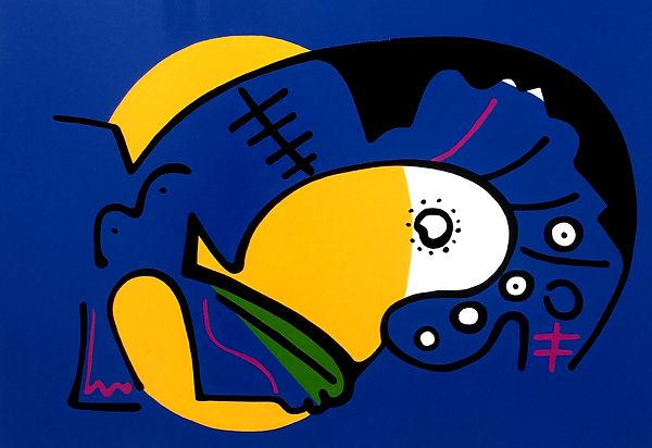 Abstraction 'Deep Sea Creature no4 ,,50x