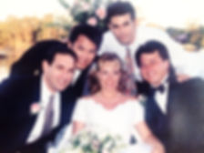 Art Supawatt Purdy with brothers David & Doug Purdy, Aun Watson at sister Tracey Purdy Brown Wedding at their Shalimar Home in Florida.