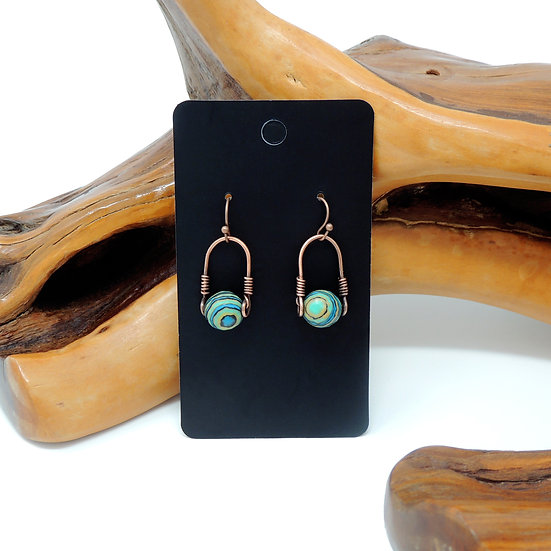 Restructured Turquoise Drop Earrings