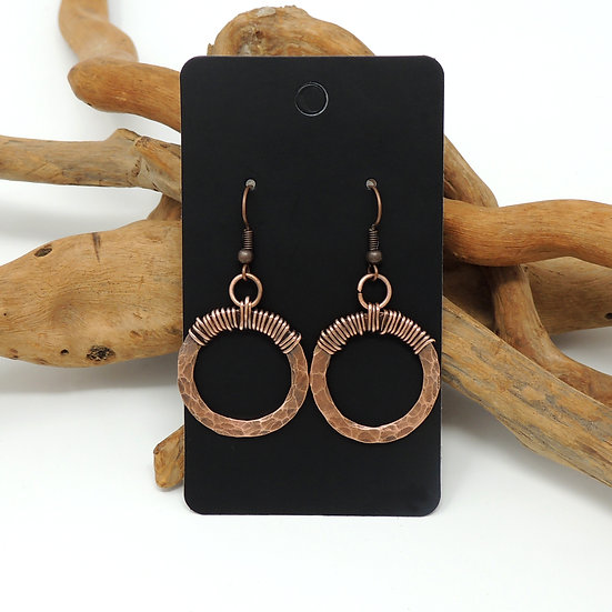 Hand Formed Hoop earrings