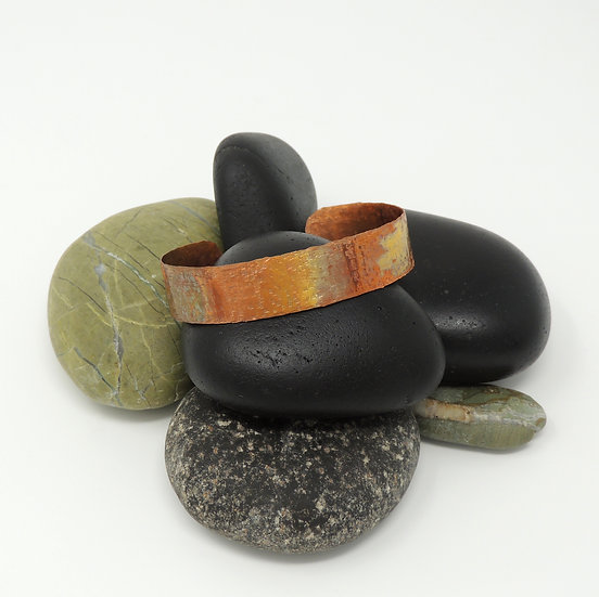 Flame Painted Lightweight Cuff Bracelet