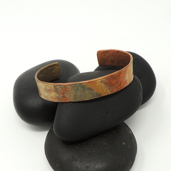 Flame Painted Narrow Cuff Bracelet