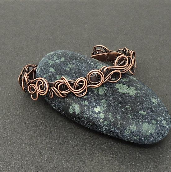 Antiqued Copper Bracelet
