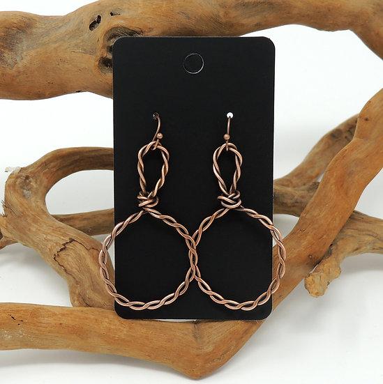 Hand Formed Hoop earrings