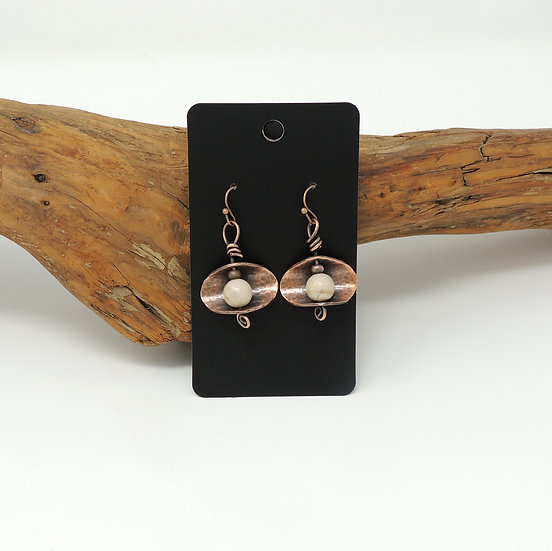 Copper & Agate Earrings