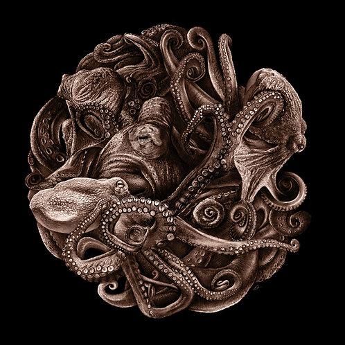 Octopus Planet (Aluminium print)