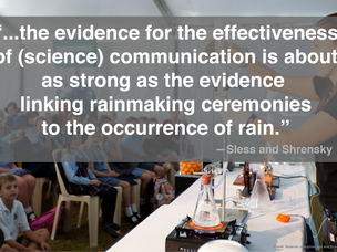 Does science communication work? Show me the evidence.