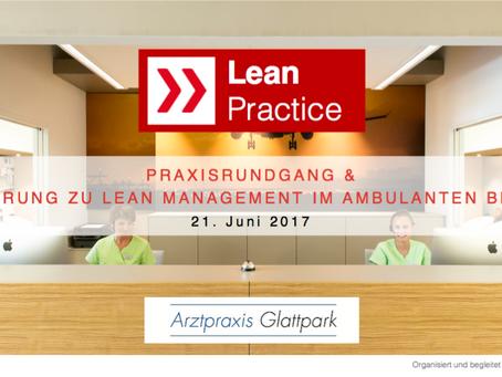 Einführung lean management in der Arztpraxis am 21.6.17