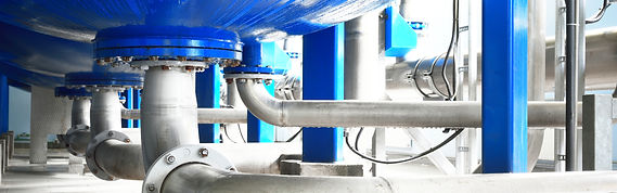 Large industrial water treatment and boi