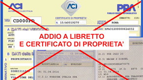 Documento Unico di Circolazione slitta al 30/06/2021