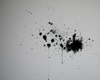 """Spit and Charcoal (Bullet), 30"""" x 24,"""" Spit and Charcoal, 2019."""