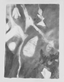 photogram with drawing material