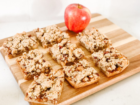 Apple Crumble Bars - Healthy Baked Bars