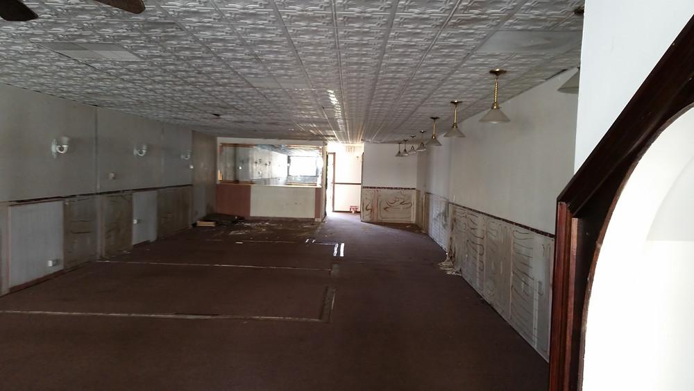 The very beginning of renovation.