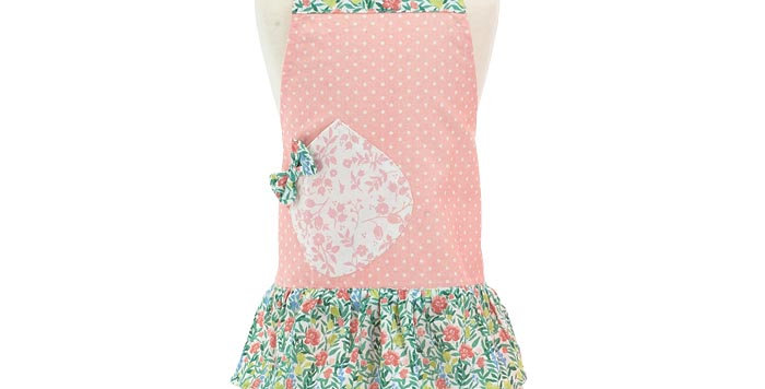 Child Peach Azalia Apron
