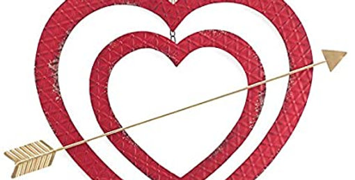 Iron Wall Hanging: Open Red Heart
