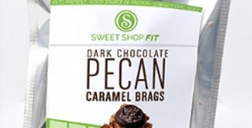 Dark Chocolate Pecan Carmel Brags