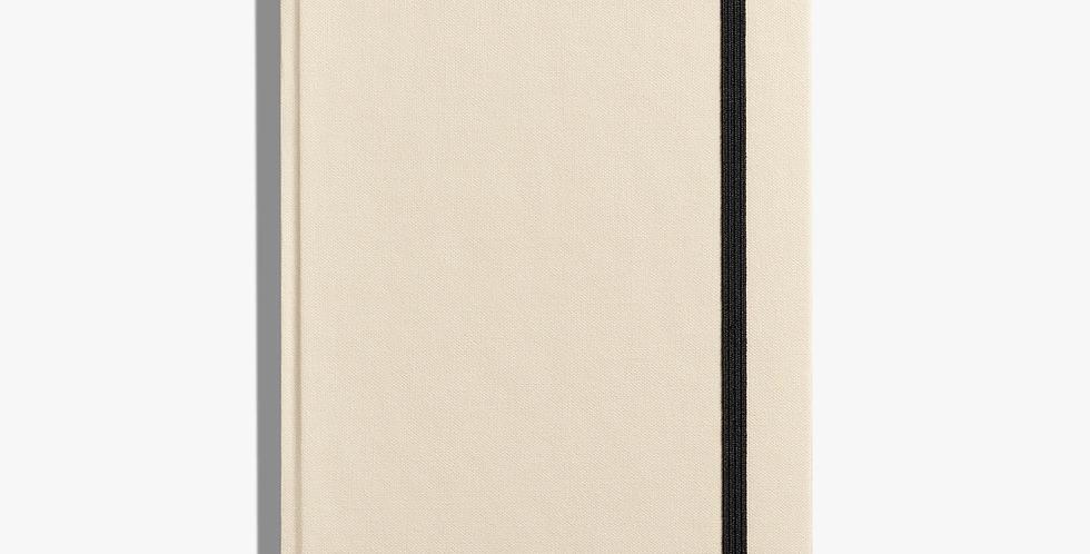 Shinola Medium Hard Linen Journal: Cream