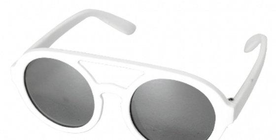 Sunglasses white round lens