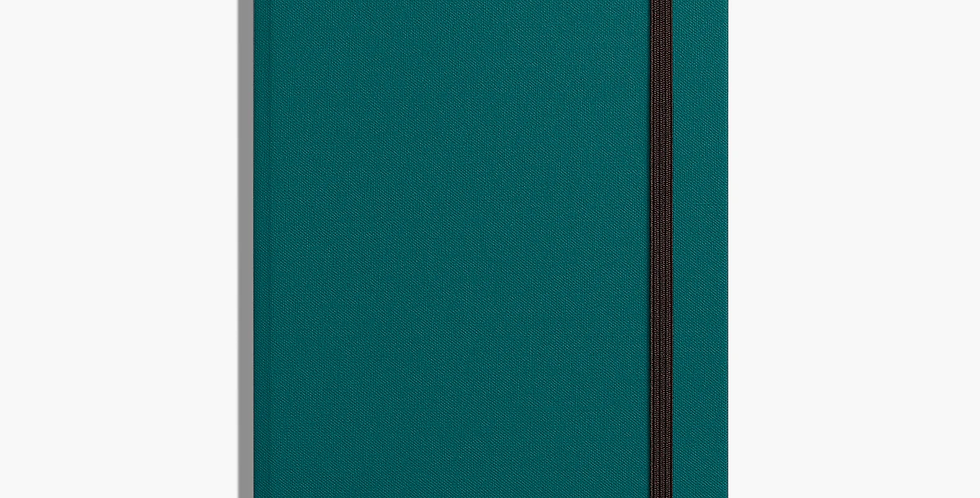Shinola Medium Hard Linen Journal: Dark Teal