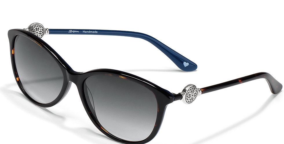 Ferrara Sunglasses: Navy Tortoise