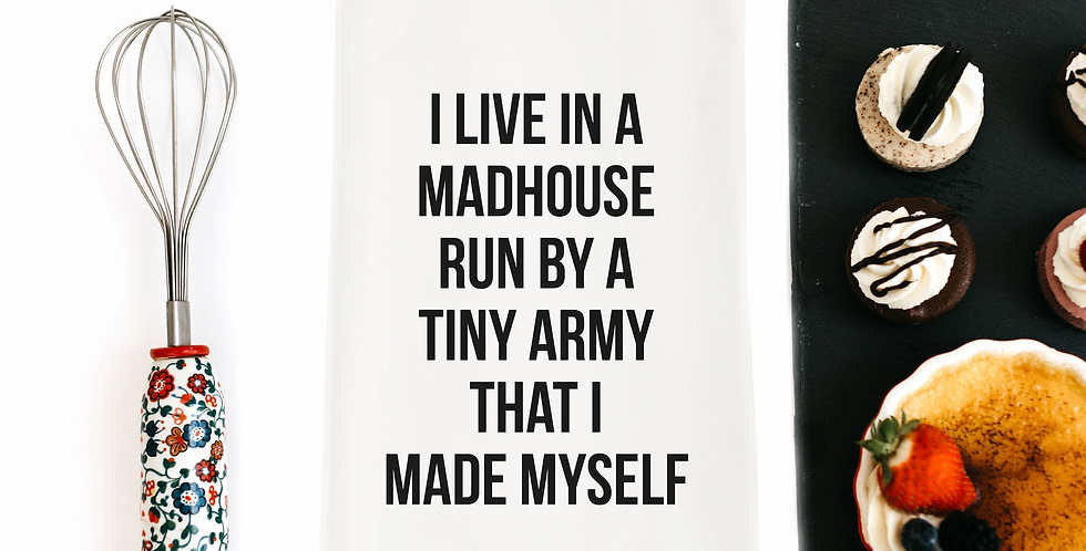 Tiny Army Mad House Towel