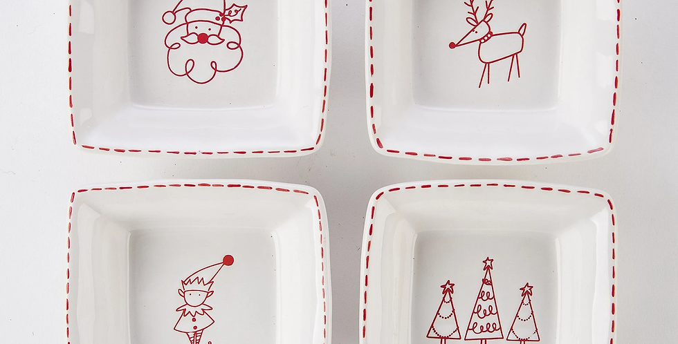 Christmas in theCountry Tid Bit Plates