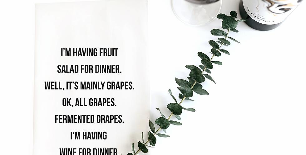 Fruit Salad Dinner Towel