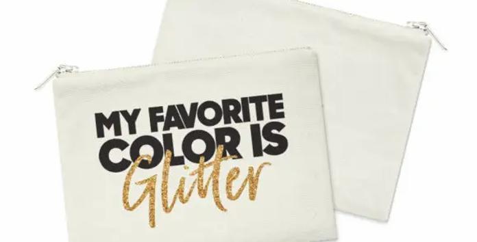 My Favorite Color Cosmetic Bag