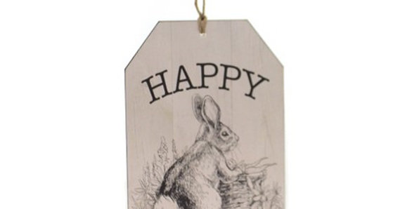 Happy Easter Tag Wall Hanging