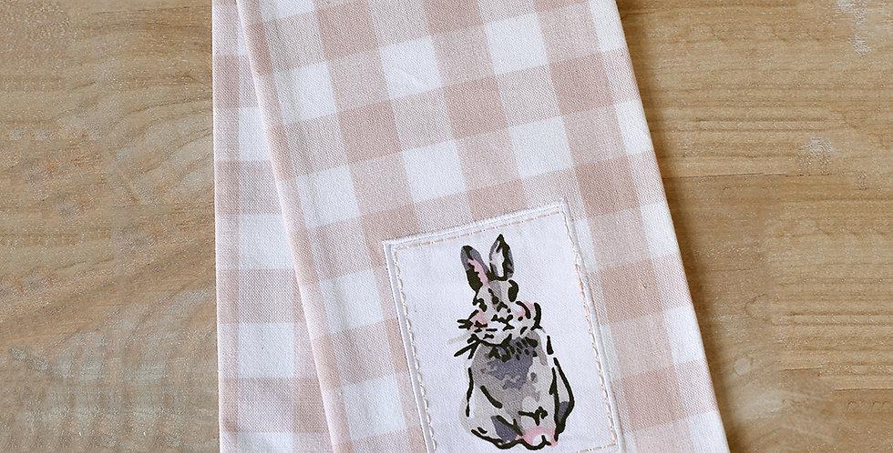 Gingham Bunny Hand Towel