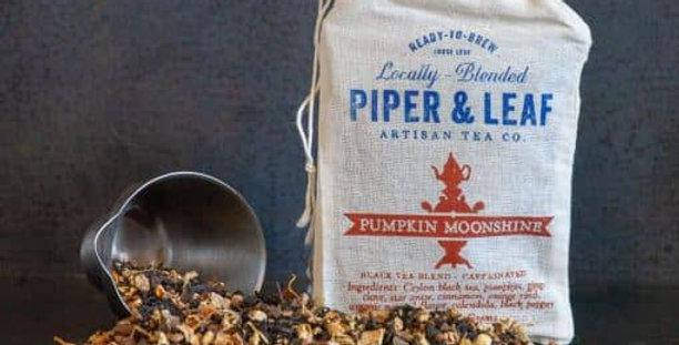 Pumpkin Moonshine Muslin Bag of Loose Leaf Tea – 15 Servings