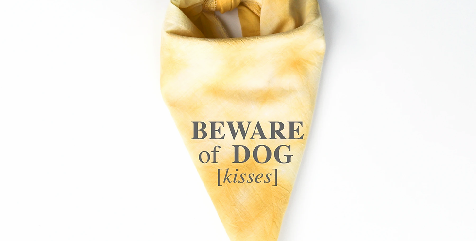 Beware of Kisses Pet Bandana