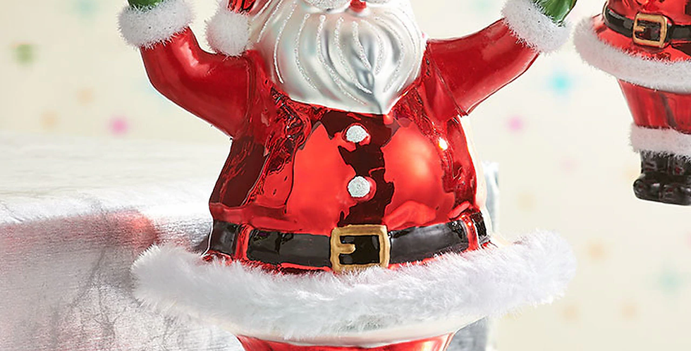 "7.5"" Retro Santa Ornament"
