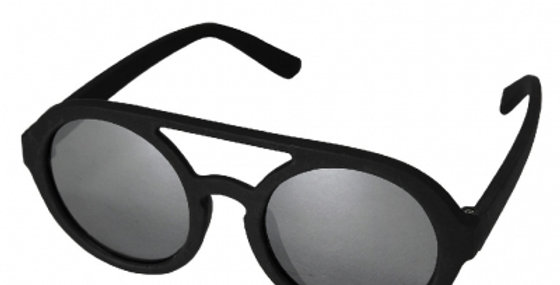 Sunglasses black round lens