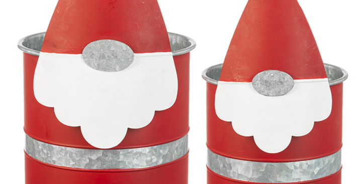 Santa Gnome Planter 2pc