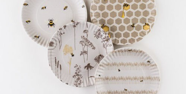 """Busy Bee Melamine Plates 9"""" (Set of 4)"""