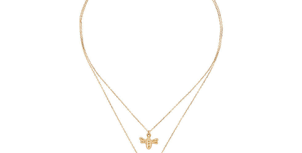 Hey Honey 2 Necklace Gold