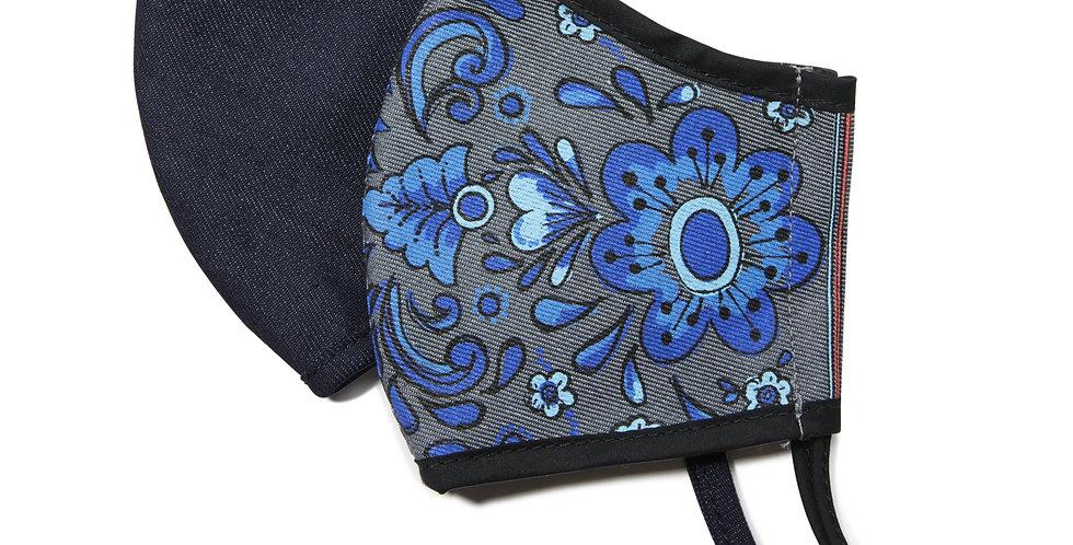 Blue Floral Face Mask (2 Pack)