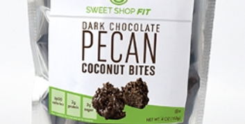Dark Chocolate Pecan Coconut Bites