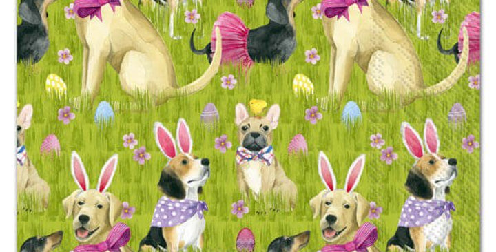 Bunny Dogs Lunch Napkins