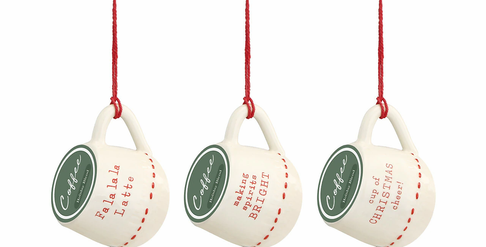 Red and White Coffee Pod Ornaments