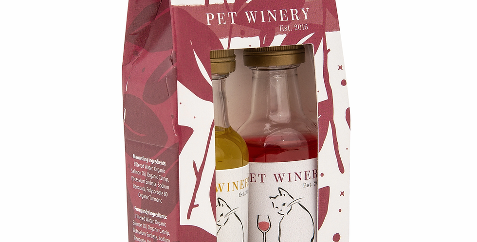 Pawty Pack Cat Wine 2 pack 1.6 oz bottles