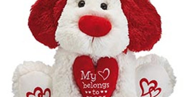 "My Heart Belongs to You: Plush 12"" Puppy"