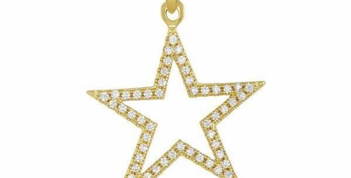 Icons Shooting Star Charm with Diamonds