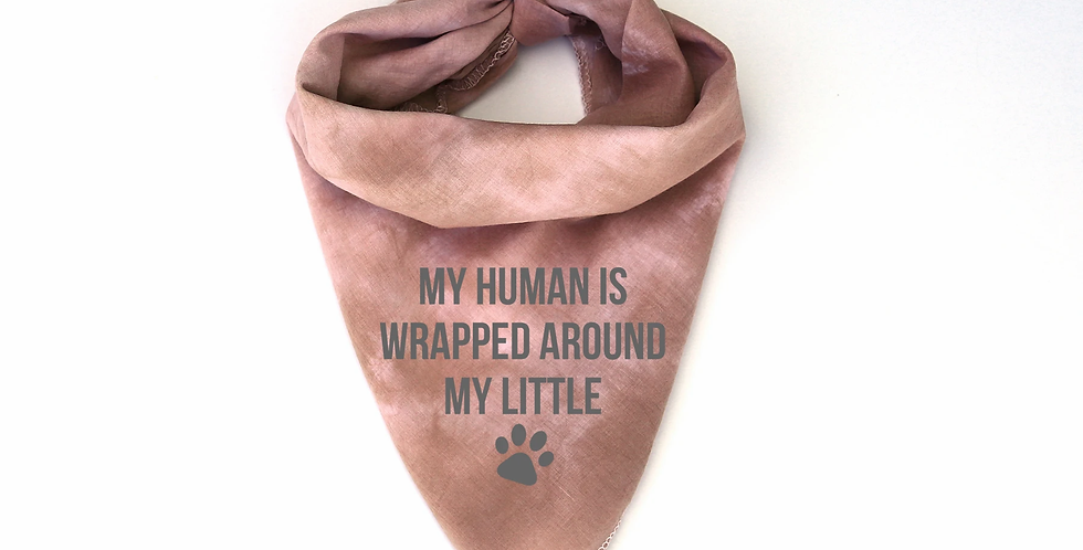 Human is Wrapped Pet Bandana