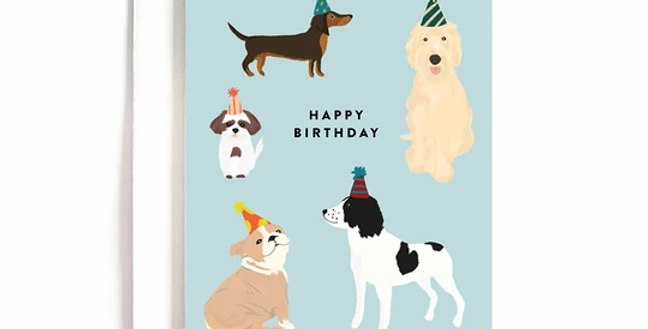 Party Dogs Birthday Card