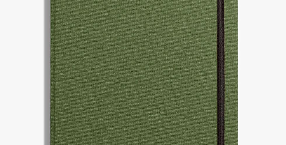 Shinola  Large Hard Linen Journal: Olive