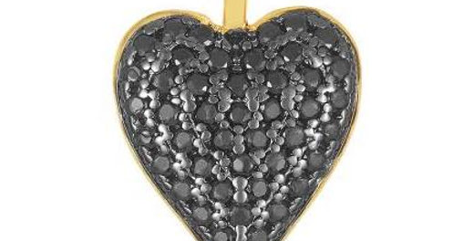 Icons Double Sided Heart Charm Black/White